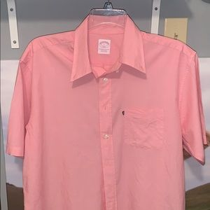 Brooks Brothers pink button up shirt